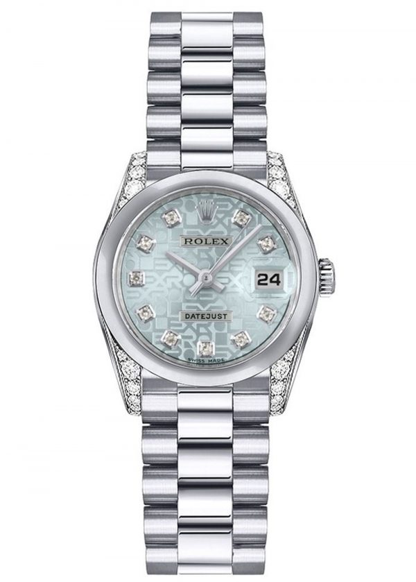 Rolex Datejust 179296 26MM Ice Blue Dial Women's Watch