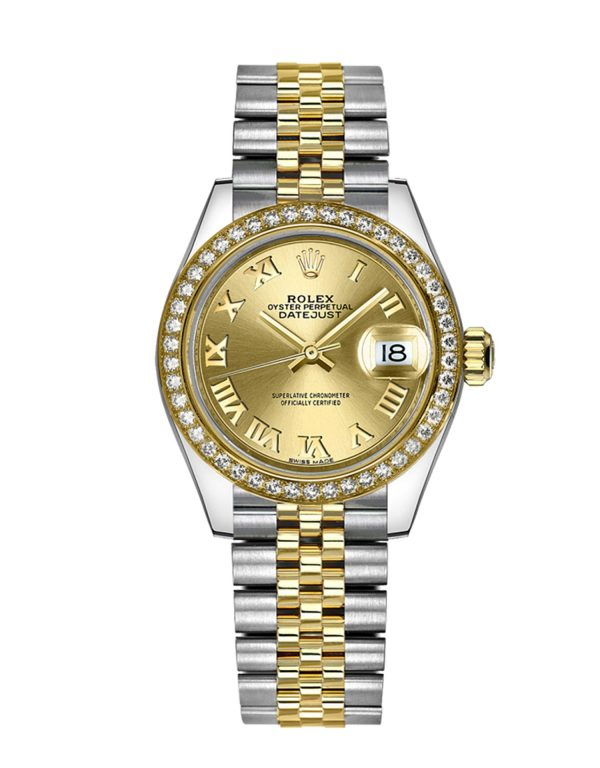 Rolex Datejust 279383RBR 28MM Champagne Dial Women's Watch