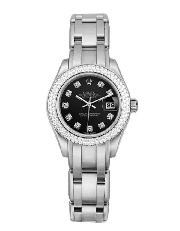 Rolex Pearlmaster 80339 28MM Black Dial Women's Watch