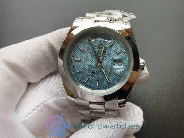 Rolex Day-date 228206 Platinum Ice Blue Dial 40mm For Men Watch