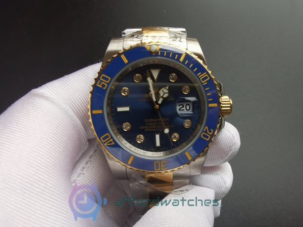 Rolex Submariner 116613 18k Rolesor Yellow Gold And Blue Dial 40mm For Men Watch