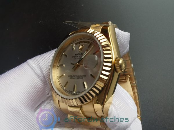 Rolex Day-date 18238 White Dial And Yellow Gold Case For Men 36mm Watch