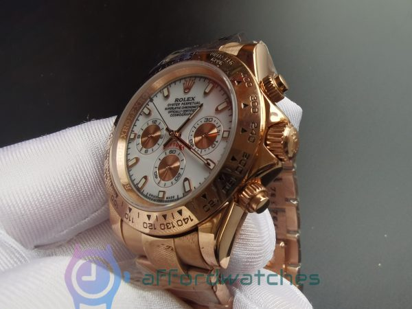 Rolex Daytona 116505 18k Everose Gold And Ivory Dial 40mm For Men Watch