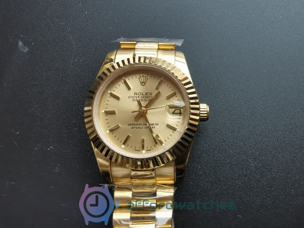 Rolex Datejust 31mm 68278 Gold Dial And Yellow Gold For Women Watch