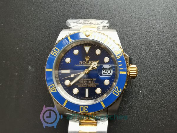 Rolex Submariner 16613 Blue Dial And 18k Yellow Gold Bezel 40mm For Men Watch