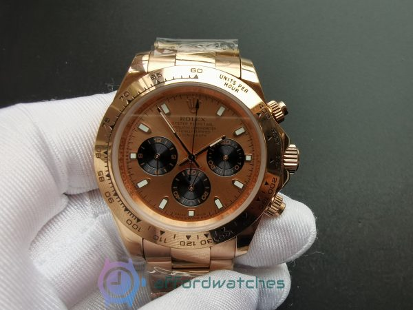 Rolex Daytona 116505 18kt Everose Gold And Pink Dial 40mm For Men Watch