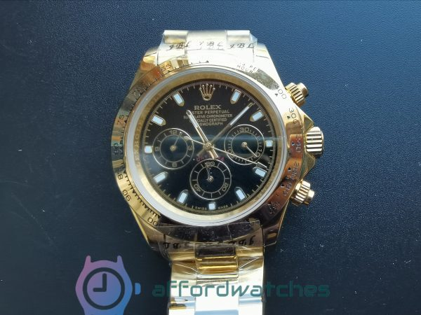 Rolex Daytona White Dial And Yellow Gold Case 40mm For Men Watch
