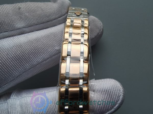 Rolex Pearlmaster Gold – 3 Colours Champagne Diamond 29mm For Women Watch
