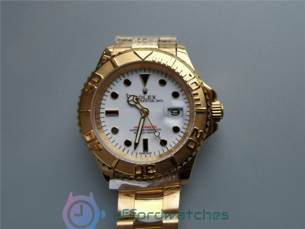 Rolex Yacht-master 18k Yellow Gold And Oyste For 40mm Men Watch
