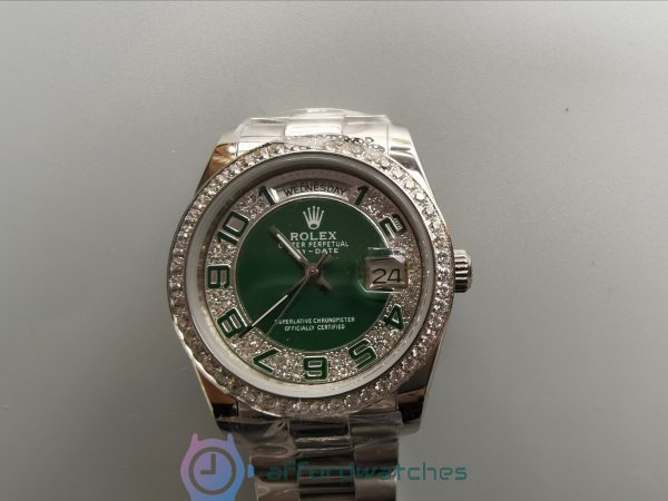 Rolex Day-date 118346 36mm Steel With Diamonds 36mm For Women Watch