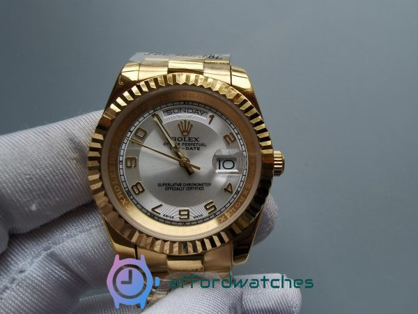 Rolex Day-date 41mm Yellow Gold Case Ivory / Cream Dial For Women Watch