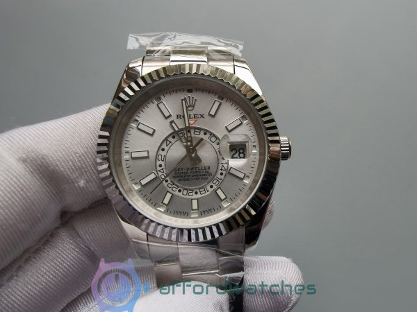 Rolex Sky-dweller 326934 42mm 904l Stainless Steel White Dial For Men Watch