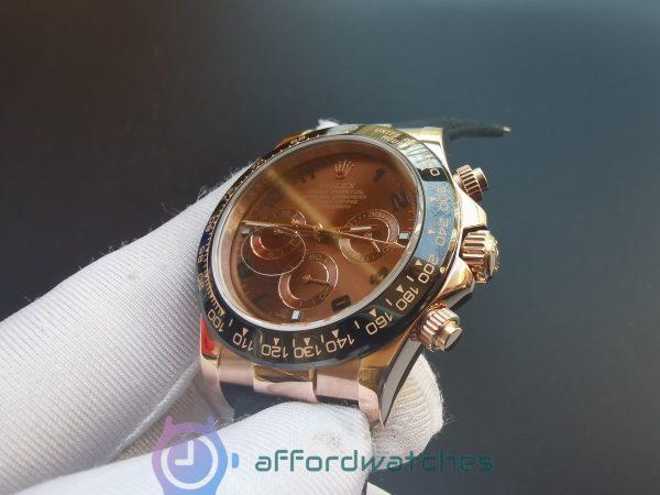 Rolex Daytona 116515 Ln Rose Gold Chocolate Arabic Dial 40mm For Men Watch