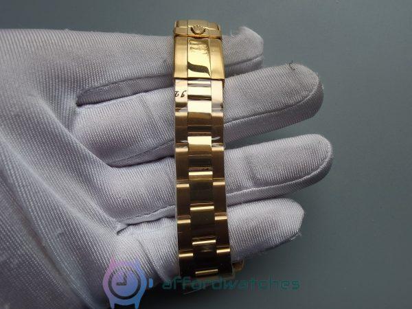 Rolex Daytona Rdt028 18k Yellow Plated Stainless Steel 35 Mm For Women Watch