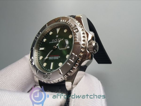 Rolex Yacht-master 40mm Rubber Strap Green Dial For Men Watch