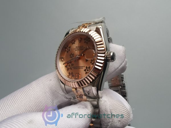 Rolex Datejust 178271 Jubilee Stainless Steel And Pink Flower 31mm For Women Watch